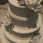 winter Cake with Sugar flowers
